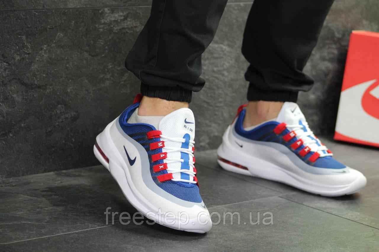 04647b92 Мужские кроссовки в стиле Nike Air Max Axis, белые с синим: продажа ...