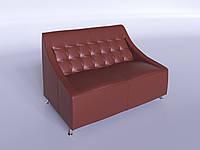 Диван офисный из кожзама Полис светло-коричневый, фото 1