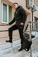 Комплект черная ветровка The North Face + спортивные штаны Nike и барсетка в подарок!, фото 1