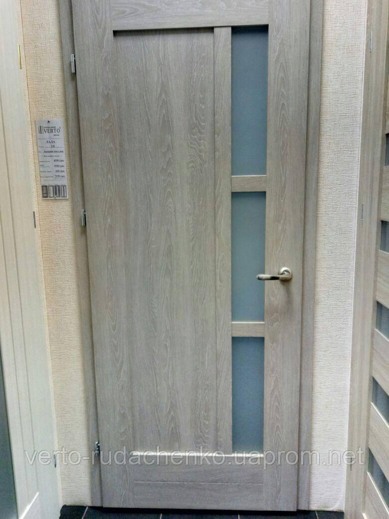 Двери Verto Лада 2.0 цвет Акация светлая «ЭКО-Шпон»