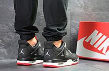 Модные кроссовки Nike Air Jordan Flight,нубук,черно-белые 46р, фото 2