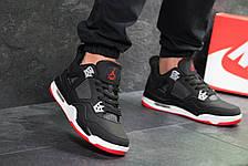 Модные кроссовки Nike Air Jordan Flight,нубук,черно-белые 46р, фото 3