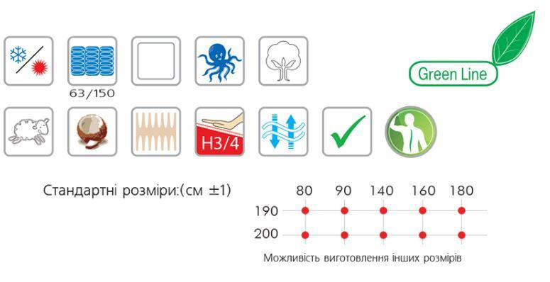 Матрас пружинный Сапфир тм Велам 80х200, фото 2