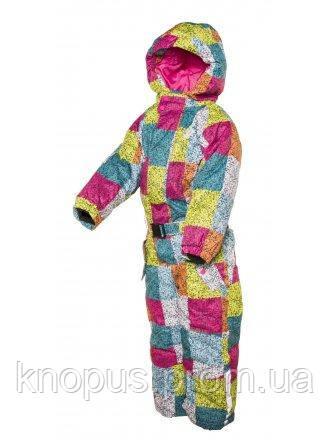 Зимний сдельный лыжный термокомбинезон для девочки PIDILIDI, размер 122