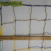 Сетка для футбольных ворот «ЭКОНОМ 2,1» желто-синяя (комплект из 2 шт.)