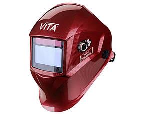 Сварочная маска хамелеон 3-A TrueColor (цвет красный)