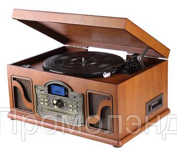 Деревянный Грамофон Проигрыватель Lauson CL146 Радио CD USB Mp3 SD  + Пульт