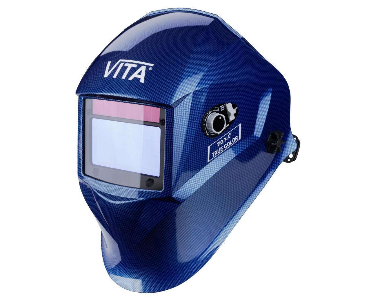 Сварочная маска хамелеон 3-A TrueColor (цвет металлические соты синие)