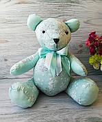 Мягкая игрушка мишка мятного цвета №3 ручная работа hand made