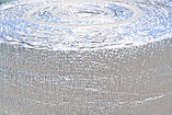 Полотно ППЕ 15 мм метализированое РЕТ (МРЕТ 9 мкм + ПЕ 10мкм) + липка прошарок 30 гр/м2, рулон 50 м. п., фото 4