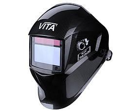 Сварочная маска хамелеон 3-A TrueColor (цвет металлические соты черные)