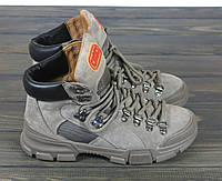 Ботинки спортивные женские Lonza 50076 GREY размер 36 23 см, фото 1