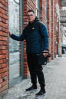 Комплект чёрно-болотная ветровка The North Face + спортивные штаны Nike и барсетка в подарок!, фото 1