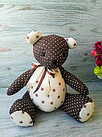 Мягкая игрушка мишка шоколадного цвета №4 ручная работа hand made