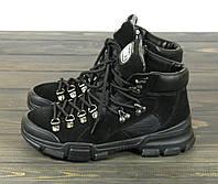 Ботинки черные женские замшевые Lonza 50076 BLACK размер 36 23 см, фото 1