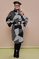 Модное женское весеннее шерстяное пальто