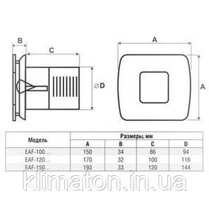 Вентилятор вытяжной Electrolux EAF-100 Premium, фото 2