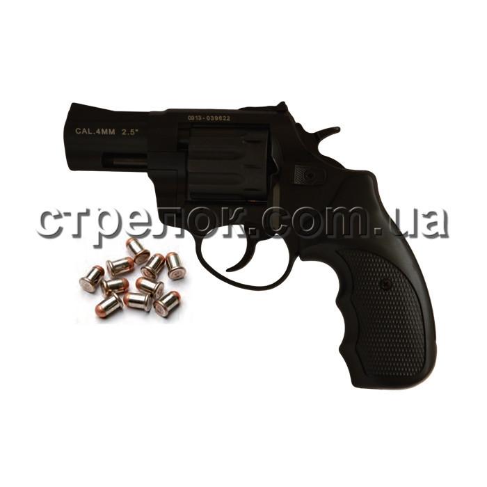 Револьвер под патрон Флобера Stalker S 2.5 Black, черный пластик
