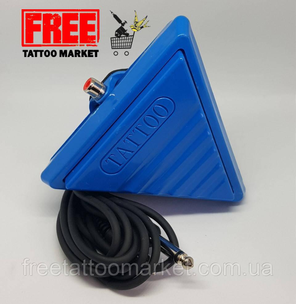 Тату педаль пластиковая треугольная (синяя)