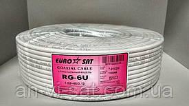 """Коаксиальный кабель RG-6U """"EuroSat"""" 1.02+48/0.12 (100м)"""