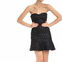 Женское нарядное кружевное платье на одно плечо 42-44