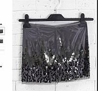 Женская клубная юбка в пайетки