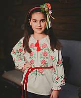 Модная детская сорочка вышиванка для девочки