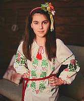 """Детская сорочка вышиванка для девочки """"Калина"""""""