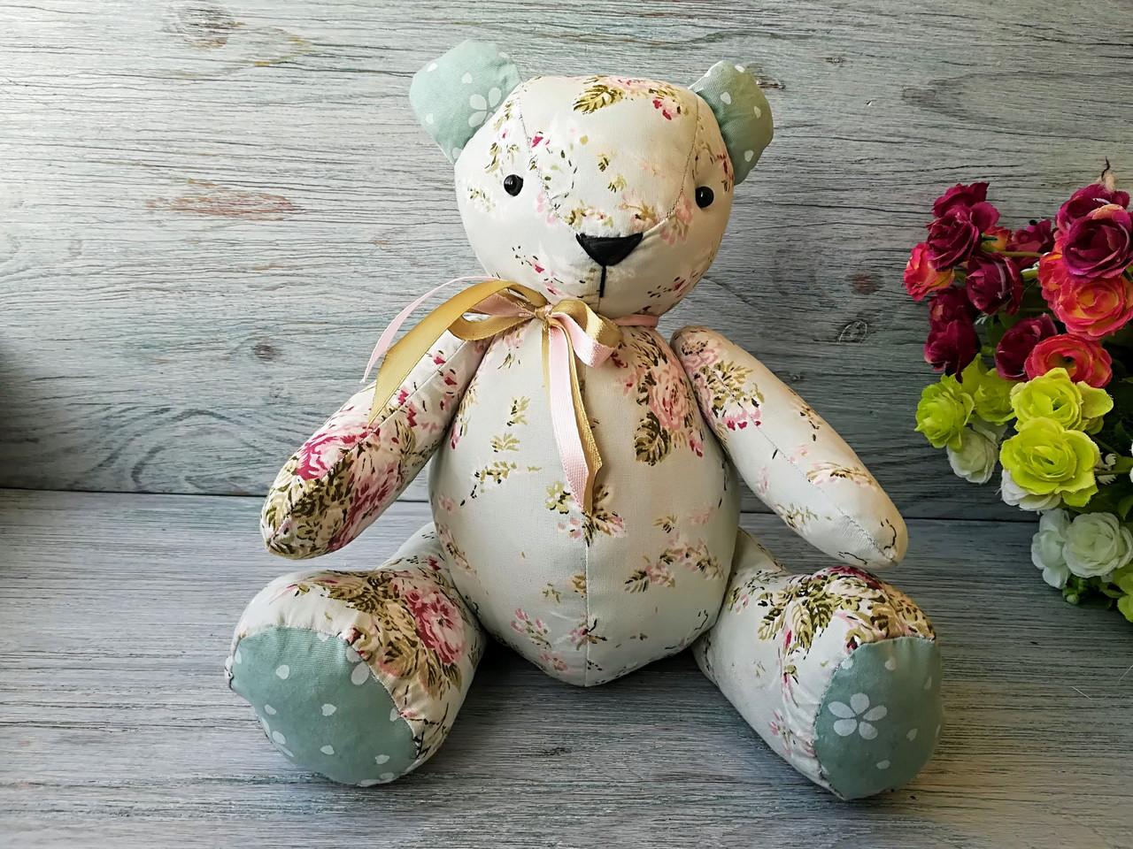 Мягкая игрушка мишка травяного цвета №5 ручная работа hand made