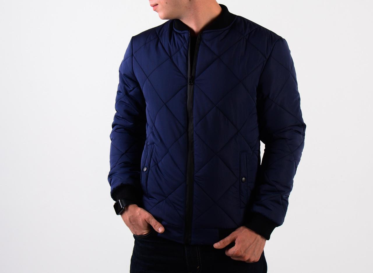 Куртка мужская синий (бомбер). Куртка чоловіча. ТОП КАЧЕСТВО!!!