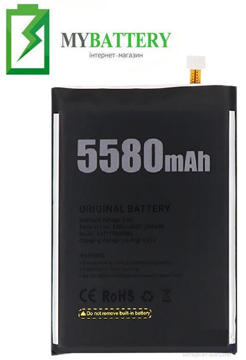 Оригинальный аккумулятор АКБ батарея для Doogee S30 5580 mAh 3.8V