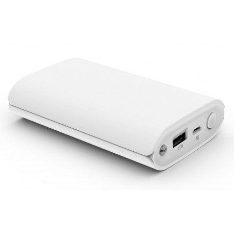 Power bank 10400mAh PZX-C146, USB-1A + mini USB +кабель USB micro, LED фонарик, White, Blister-BOX