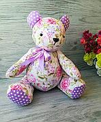 Мягкая игрушка мишка розовый №6 ручная работа hand made