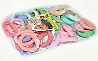 Цветные резинки для волос 50 шт