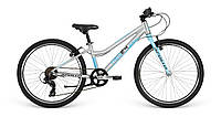 """Велосипед 24"""" Apollo NEO 7s girls Brushed Alloy/Sky Blue/Charcoal"""
