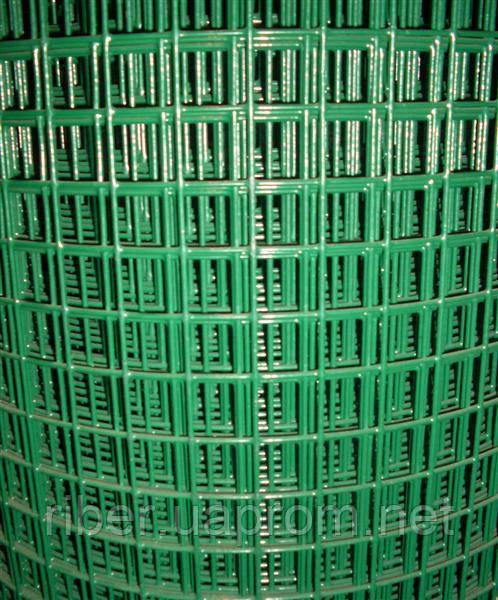 Сетка сварная с ПВХ покрытием 20х20х1,4мм 1/30м