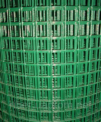 Сетка сварная с ПВХ покрытием 20х20х1,4мм 1/30м, фото 2