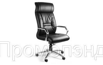 Кресло офисное кожаное Черное