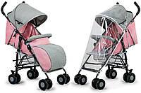 Прогулочная коляска KINDERKRAFT Розовая/ Зонт коляска