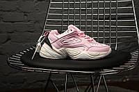 """Женские кроссовки весенние на высокой подошве розовые Nike M2K Tekno """"Pink"""" (реплика)"""