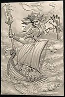 Картина резная Ньёрд - бог морской стихии