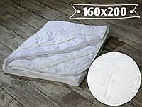 Наматрасник стеганый 160х200 см, микрофибра с резинками по 4-м углам