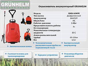 Grunhelm GHS-16WN Обприскувач акумуляторний 16 л, фото 3