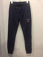 Трикотажные подростковые спортивные штаны на мальчика 152 см, фото 1