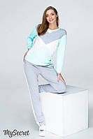 Ультрамодный костюм для беременных и кормящих OLBENI ST-19.012, серый меланж, фото 1
