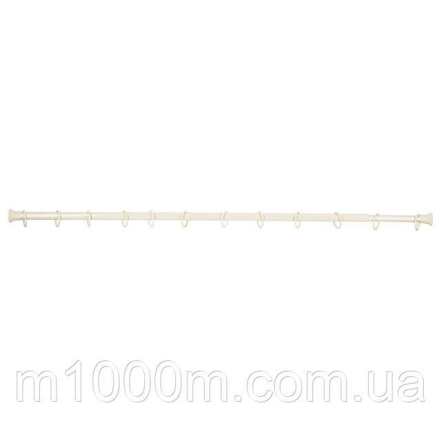 Карниз для шторки в ванную (1,6-3м) металл, Турция, ЦВЕТ ТОЛЬКО БЕЛЫЙ