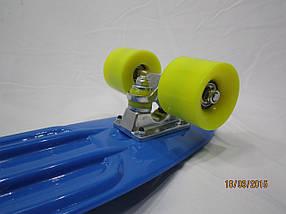 Скейтборд Cкейт Penny Board Синий  колёса каучук ,мягкие