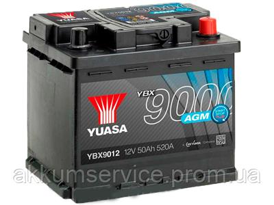 Аккумулятор автомобильный Yuasa AGM 50AH R+ 520А YBX9012