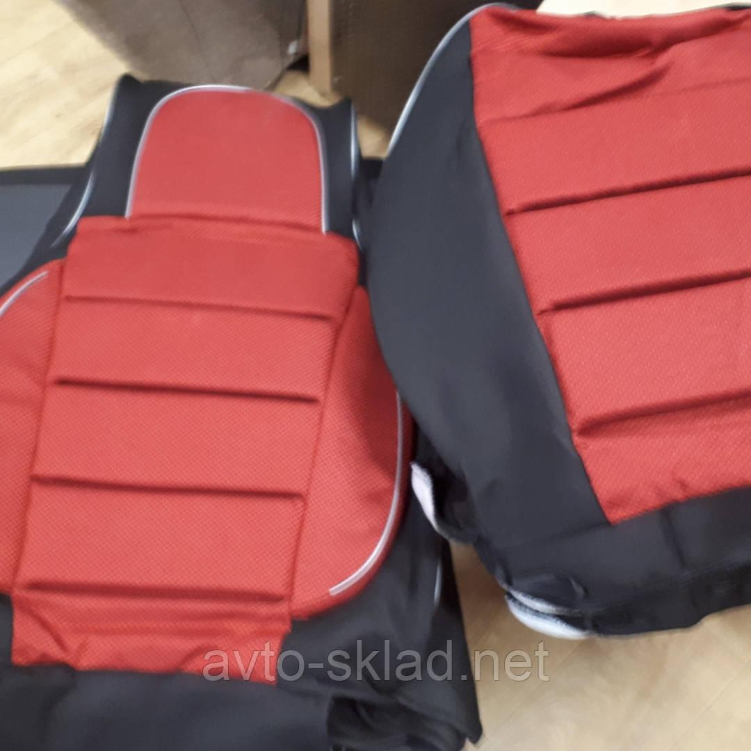 Чехлы сидений Ваз 2107 черные с красными вставками плотные