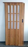 Дверь гармошка  полуостекленная 1020х2030х10мм БУК №503